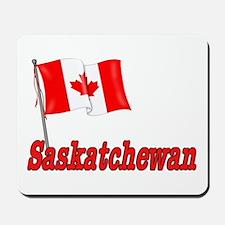 Canada Flag - Saskatchewan Text Mousepad