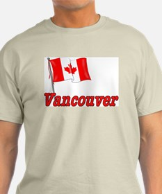 Canada Flag - Vancouver Text T-Shirt
