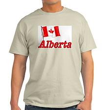 Canada Flag - Alberta Text T-Shirt