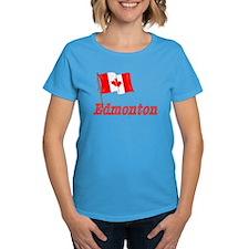 Canada Flag - Edmonton Text Tee