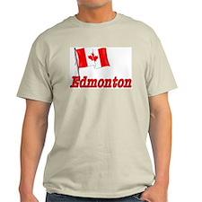 Canada Flag - Edmonton Text T-Shirt