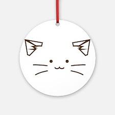 Fuzzballs Cat Face Ornament (Round)