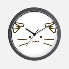 Fuzzballs Cat Face Wall Clock