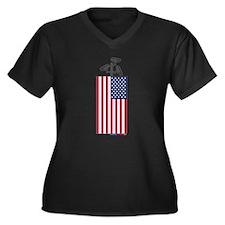American CCTV Freedom Plus Size T-Shirt