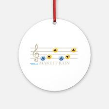 Make It Rain Ornament (Round)