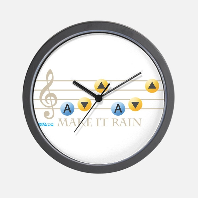 Make It Rain Wall Clock