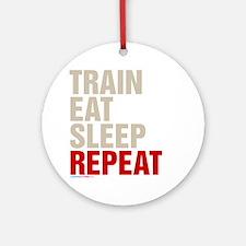 Train Eat Sleep Repeat Ornament (Round)
