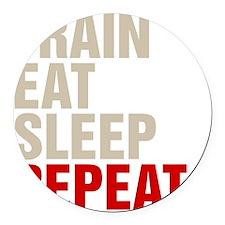 Train Eat Sleep Repeat Round Car Magnet