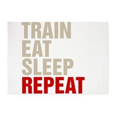 Train Eat Sleep Repeat 5'x7'Area Rug