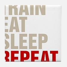 Train Eat Sleep Repeat Tile Coaster