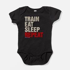 Train Eat Sleep Repeat Baby Bodysuit