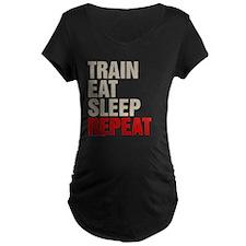 Train Eat Sleep Repeat Maternity T-Shirt