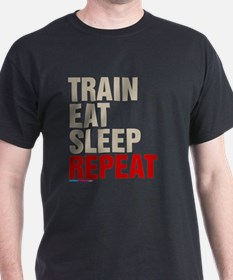 Train Eat Sleep Repeat T-Shirt