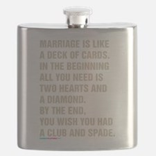 Marriage Is Like A Deck Of Cards Flask