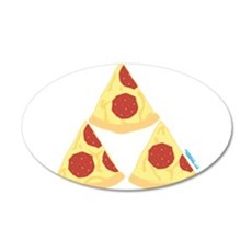 Pizza Triforce Wall Decal