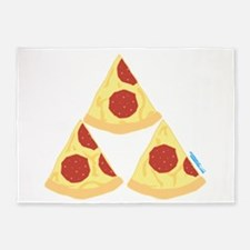 Pizza Triforce 5'x7'Area Rug