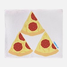 Pizza Triforce Throw Blanket