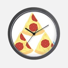 Pizza Triforce Wall Clock