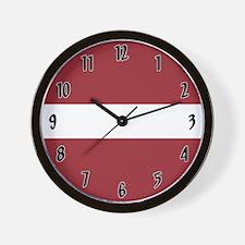 Flag of Latvia Wall Clock