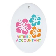 Hibiscus Retired Accountant Ornament (Oval)