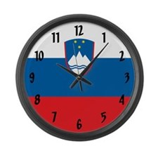 Flag of Slovenia Large Wall Clock