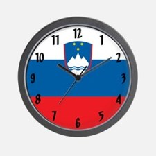 Flag of Slovenia Wall Clock