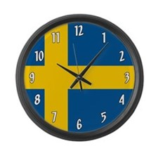 Flag of Sweden Large Wall Clock