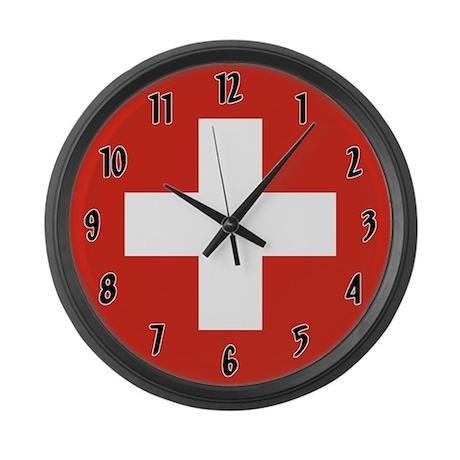 Flag Of Switzerland Large Wall Clock By Worldflagclocks