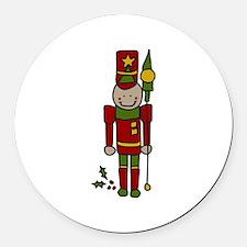 Christmas Nut Cracker Round Car Magnet
