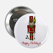 "Holiday Nut Cracker 2.25"" Button"