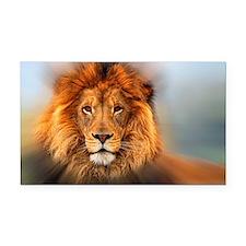 Lion Rectangle Car Magnet