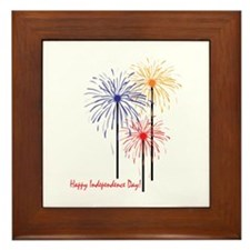 Happy Independence Day! Framed Tile