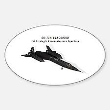 SR-71A Blackbird Sticker (Oval)
