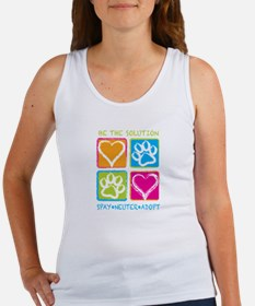 Unique Adopt a rescue dog today Women's Tank Top