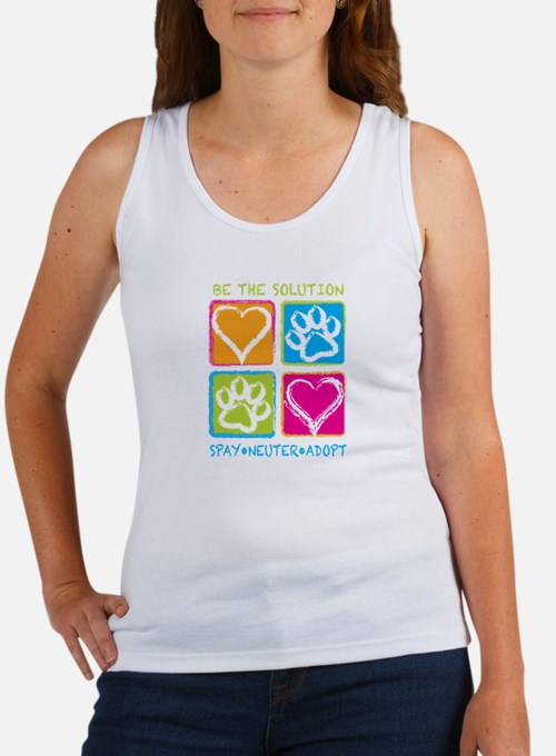 Cute Be the solution spay neuter adopt Women's Tank Top