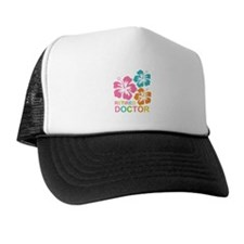 Hibiscus Retired Doctor Trucker Hat