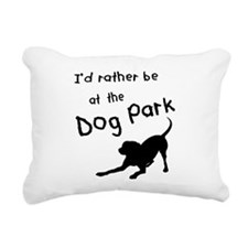 Dog Park Rectangular Canvas Pillow