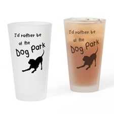 Dog Park Drinking Glass