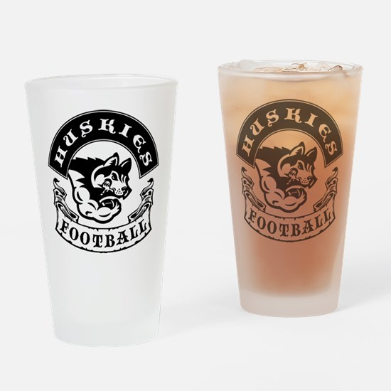 Huskies Football Drinking Glass