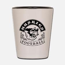 Huskies Football Shot Glass