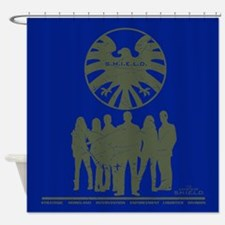Agents of Shield Group Pose Shower Curtain