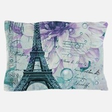 stamps purple floral modern paris eiffel tower Pil