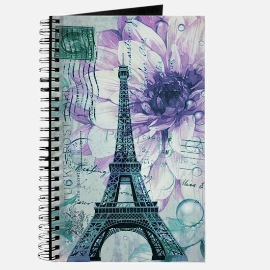 stamps purple floral modern paris eiffel tower Jou