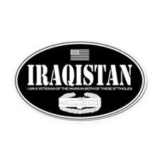 Iraqistan CAB Oval Car Magnet