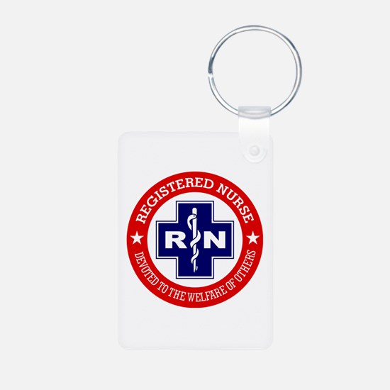 Registered Nurse (red-blue) Keychains