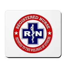 Registered Nurse (red-blue) Mousepad