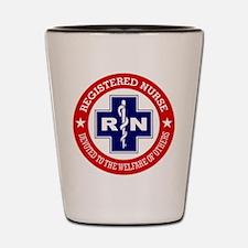Registered Nurse (red-blue) Shot Glass