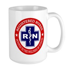 Registered Nurse (red-blue) Mugs