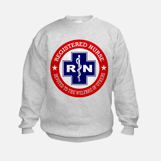 Registered Nurse (red-blue) Sweatshirt