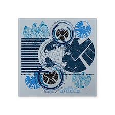 "Agents of Shield Square Sticker 3"" x 3"""